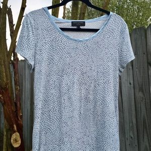 Banana Republic Luxe Touch T-Shirt Blue & Gray